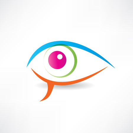 hypnotizing: abstract human eye icon Illustration