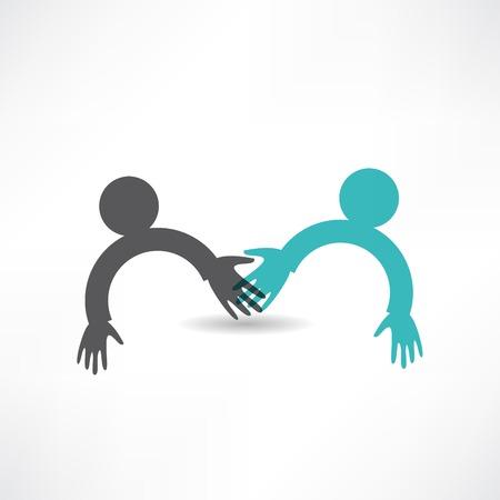 handshake icon: handshake and friendship icon Illustration