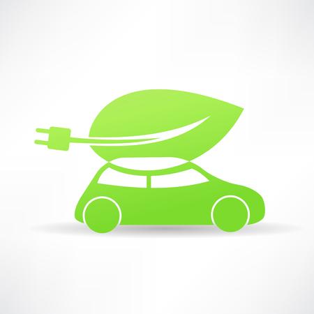 green eco car icon Vector