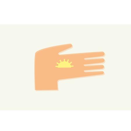 maintain: hand holding the sun