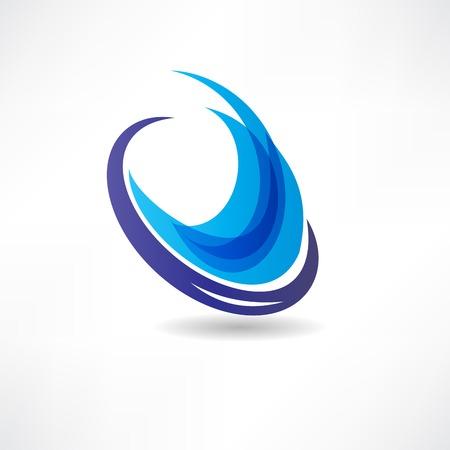 Abstrakte blaue Wasser Symbol Standard-Bild - 24584203