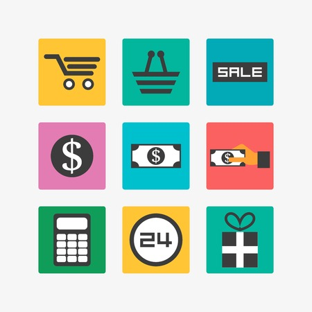 telephone box: Sale icons Illustration
