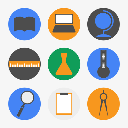 bunsen burner: Science icons Illustration