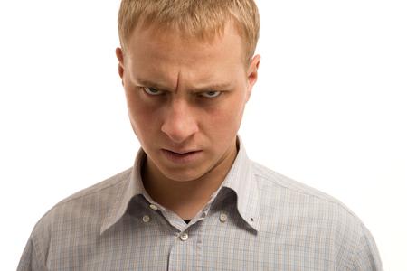 Hombre enojado. photo