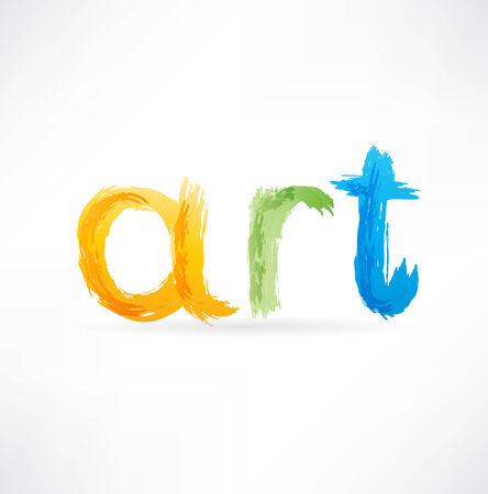 artist palette: art icon Stock Photo