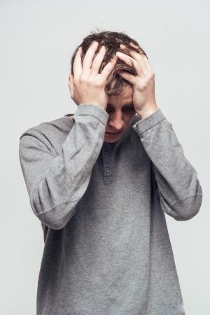 man upset photo
