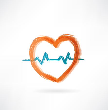 heart with cardiogram photo