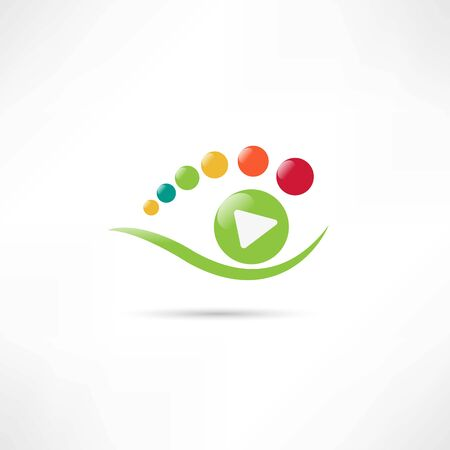 diaphragm: green eyes watching play icon