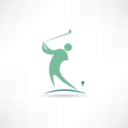 man playing golf icon