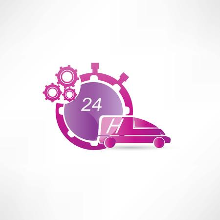 forwarder: transport service 24 hours icon