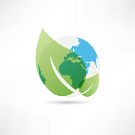 clean planet earth icon Stock Vector - 24608024
