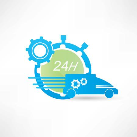 forwarder: delivery truck around the clock icon