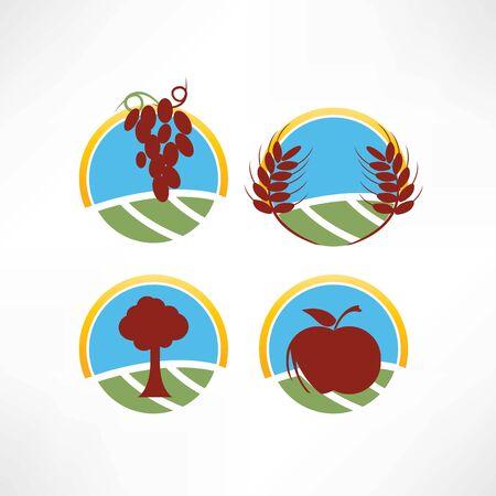 fresh and natural icon Illusztráció