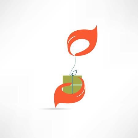 give a gift icon Illustration
