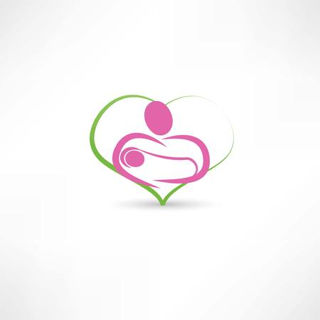 born saint: love for children icon Illustration