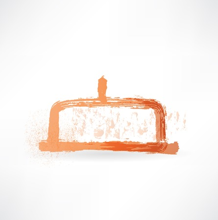 refrigerated: plate for storing butter icon Illustration