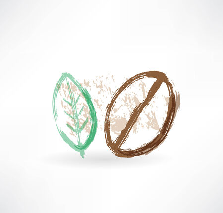 coffee leaf: grain coffee and tea leaves icon