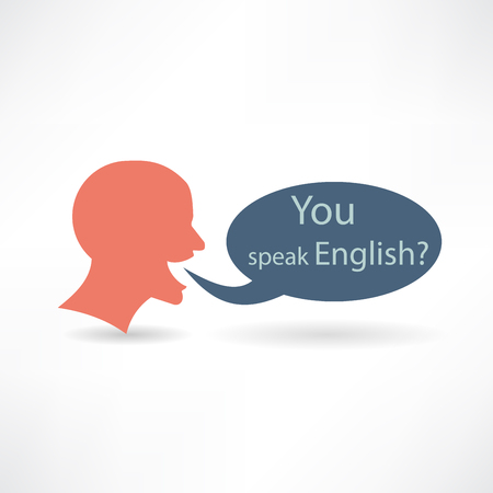 you speak English icon Vector
