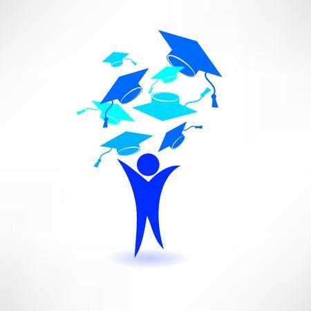 study icon: Icono Estudio Blue Man Vectores