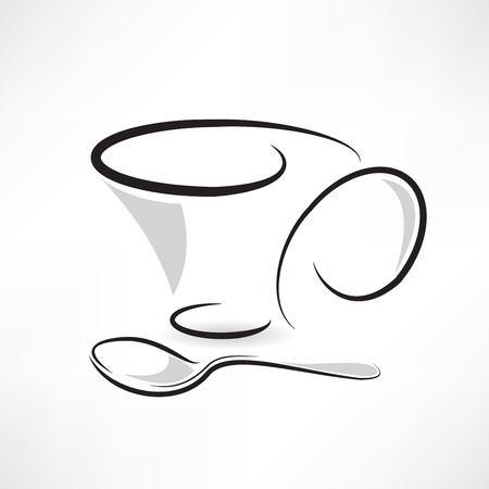 coffee cup abstraction icon Vector
