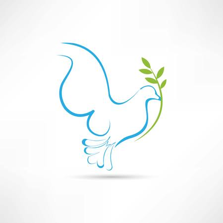 blue dove icon