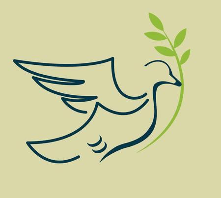 dove and a sprig icon