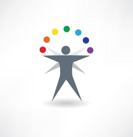 juggler: skilled juggler abstraction icon