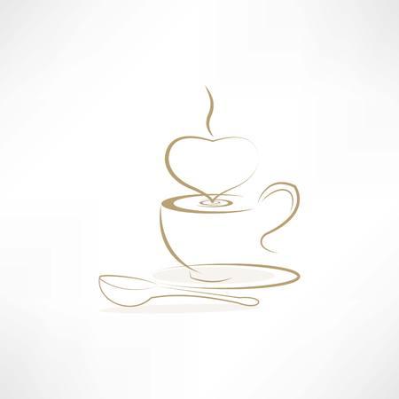 Image latte line icon Banco de Imagens - 24741416