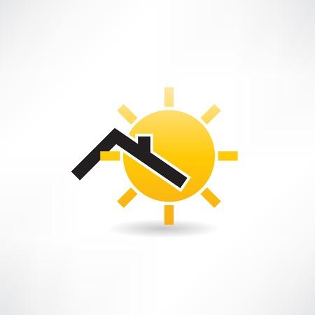 정오: sunny roof icon