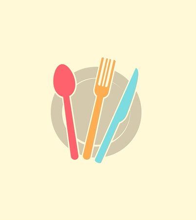 dinner plate: kitchen items icon