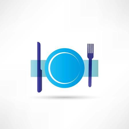 blue plate icon Ilustrace