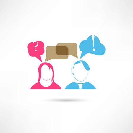 storage device: couple communication icon Illustration