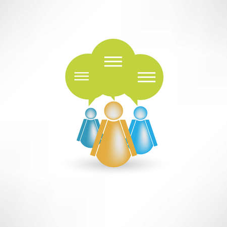 group of people to communicate icon Vector