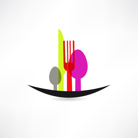 kitchen sets in the form of landscape icon Vector