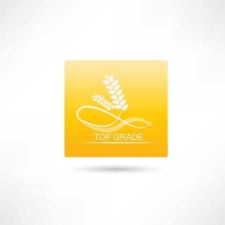 fertility emblem: wheat premium icon Illustration