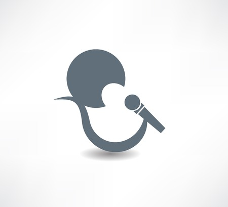 singer abstraction icon Vector