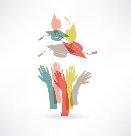 hands of students icon Stock Illustratie
