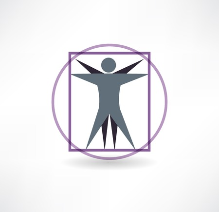 vitruvian man icon Vector