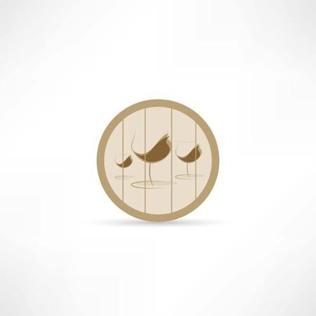 hogshead: wine in a barrel icon