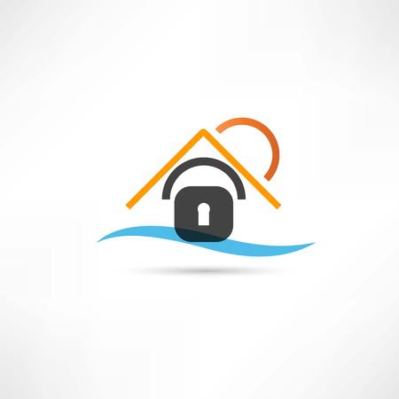 castle house abstraction icon Vector