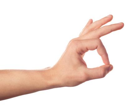 Gestikulieren menschlichen Hand auf weißem Hintergrund Standard-Bild - 25267232