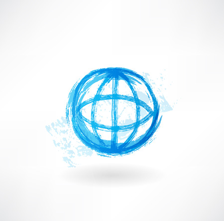 equator: Globe grunge icon Stock Photo