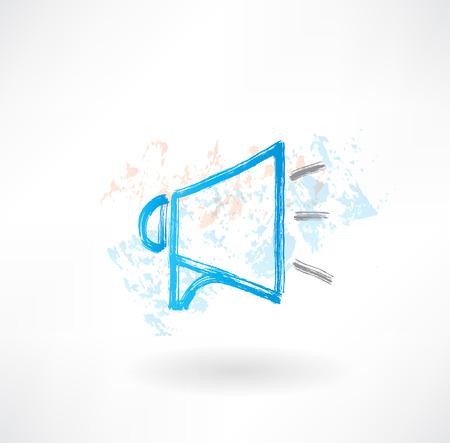 Ankündigung Grunge-Ikone Standard-Bild - 25349949