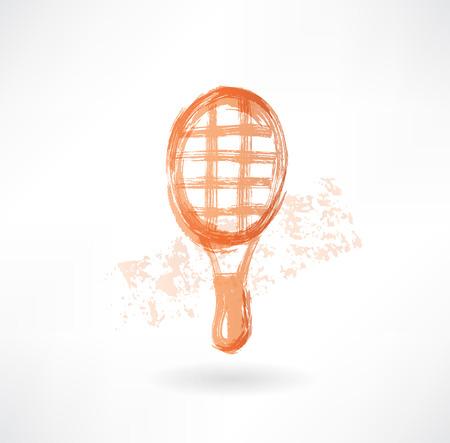 paddle: racket grunge icon Stock Photo