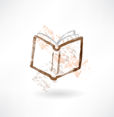 acquaintance: open book grunge icon.