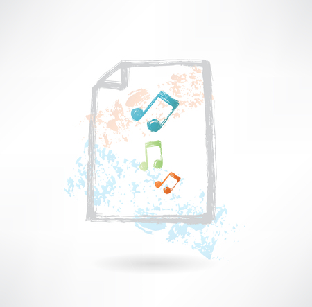 conservatory: Paper music grunge icon