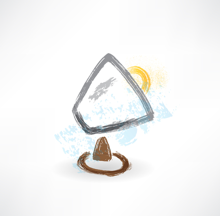 brush lamp icon. photo