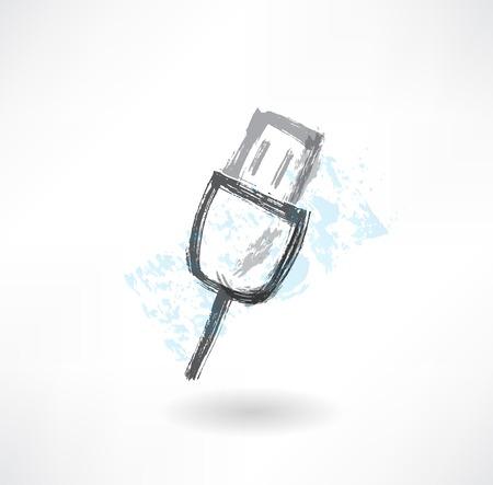 kilobyte: key grunge icon.