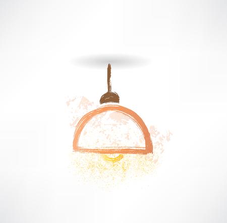 lamplight: chandelier grunge icon.