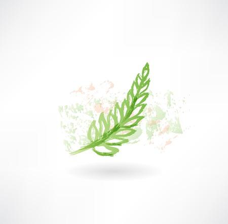 green grunge icon.
